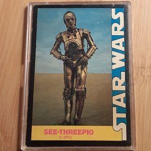 Vintage 1977 Star Wars C-3PO Collector's Card
